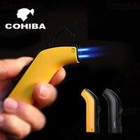 Cohiba Fashion High End 2 Torch Jet Flame Gun Metal Cigar Lighter Punch Butane Gas Cigarette
