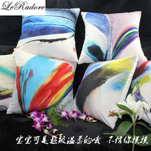 New Luxury Sofa Cushions Cover Plush Fabric Bolster Car Cushions Decorative Back Support Office Chair Seat 18*18in