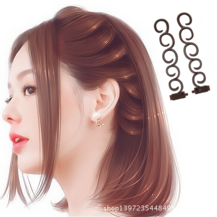 2pcs/lot Women Hair Accessory Easy Quick Hair Style Tools Hairdressing Dreadlock Cornrows Updo Hairdo