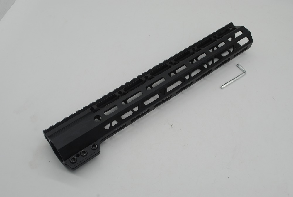 купить TriRock 13.5'' inch M-lok Clamping Style Handguard Picatinny Rail Mount Free Float System Black Anodized Fit .223/5.56 AR-15 онлайн