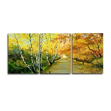 3 Panel Modern Autumn Posters and Prints Wall Artwork Canvas Painting Living Room Wedding Nordic Home Decoration
