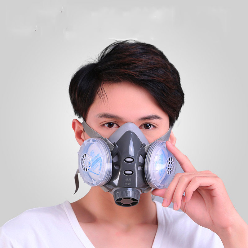Dust Face Mask Grey Safety Chemical Respirator Thermoplastic Materials With Anti-dust/smog/exhaust 8010B 300pcs anti fog dust disposable masks medical anti dust surgical face mouth face mask respirator for man women