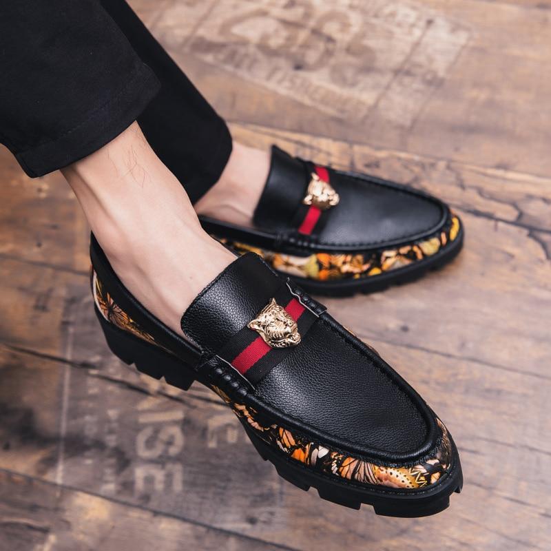 Formal Shoes Cimim Brand Formal Shoes Men High-end Custom Men Leather Dress Shoes Fashion Flock Big Size Loafers Men Casual Office Men Shoes