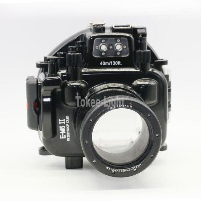 40M 130ft Waterproof Underwater Diving Camera Housing Case for Olympus O MD E M5 Mark II OMD EM5 II + 12 50 f/3.5 6.3 Lens
