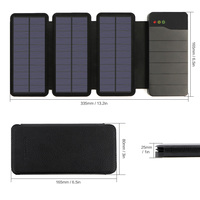 3 Solar Panels Mobile Phone Charger Quick Charging Phone Charger For IPhone 5 5s SE 6