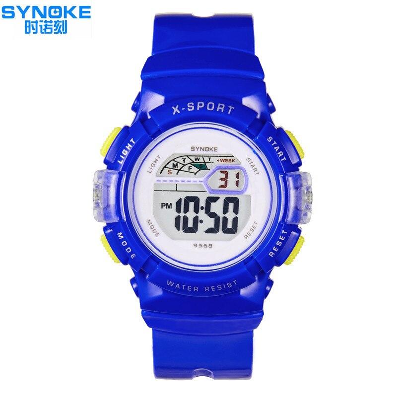 Children Clock Sport Watches Alarm Chrono <font><b>LED</b></font> Digital Wristwatches 30M Waterproof Timer Kids Watch Boy Girl Pink
