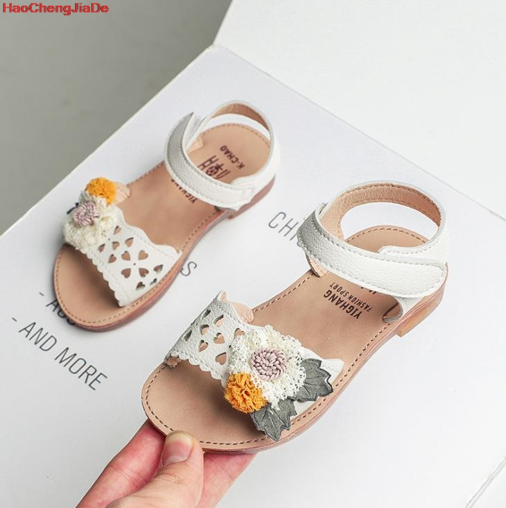 Toddler Kids Baby Girls Elegant Bowknot Flower Princess Shoes Sandals
