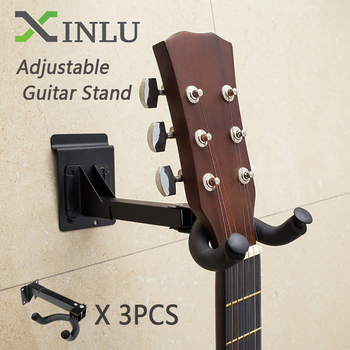 3pcs Adjustable Guitar Hook Support Guitar Stand Wall Mount Guitar Hanger Hook for Guitars Bass Ukulele Stand String Instrument gorilla tips by im fingertip protector cover in clear blue pain relier for guitar bass ukulele players string finger guards