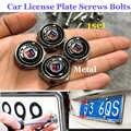 1 takım araba lisansı plaka vidalar cıvata rozet amblemi araba aksesuarları BMW E60 E90 F10 F30 F15 E63 E64 E65 e86 için Alpina logo kapağı