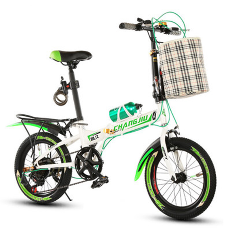 20 Inches Folding Bike Mountain Bicycle Children's Male And Female Students' Variable Speed