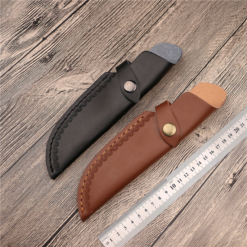 Outdoor Knife Sheath Cover Hunting Knives Holders Holster Belt Leather Outdoor Tools