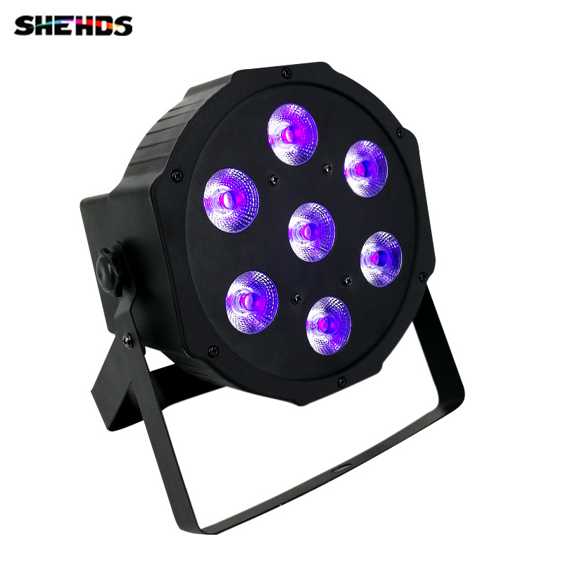 SHEHDS LED plat Par 12x3 W couleur violette éclairage UV avec DMX512 pour Disco DJ projecteur Machine fête décoration Violet