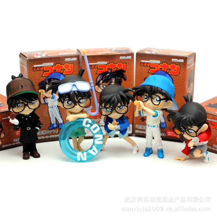 5PC Conan action figure Detective conan doll Boxes High quality  toy anime action figure Garage Kits Gift of mini conan model anime one piece dracula mihawk model garage kit pvc action figure classic collection toy doll
