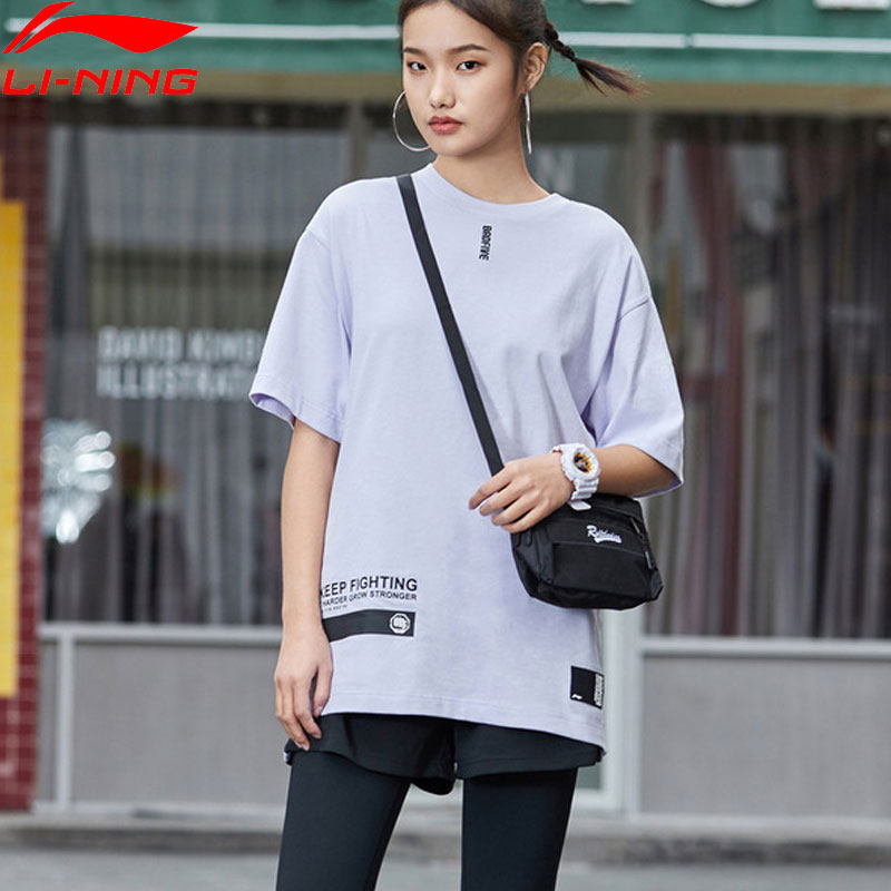 Li-Ning Women BAD FIVE Basketball Series Jersey 100% Cotton Breathable T-Shirts Loose Fit LiNing Sports Tee AHSP074 WTS1497Li-Ning Women BAD FIVE Basketball Series Jersey 100% Cotton Breathable T-Shirts Loose Fit LiNing Sports Tee AHSP074 WTS1497