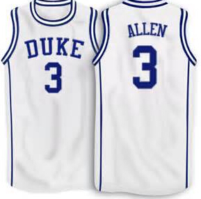 ce5eb6fd6ce2 ... Black White 12 Justise Winslow 3 Grayson Allen Duke Blue Devils White  Alternative basketball Jersey (2015)