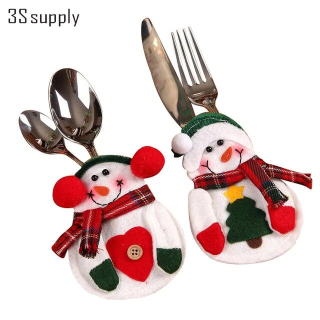 Hot Festa Di Natale Decorazione Forniture 8 pz/set Cucina Posate ...