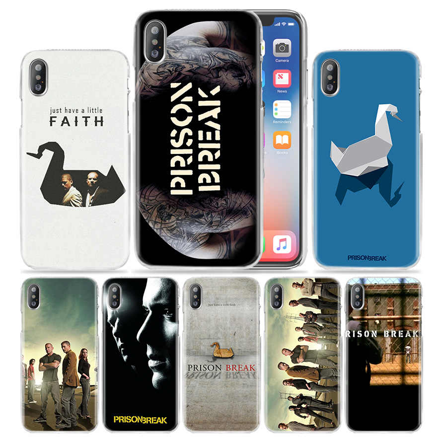 Prison Break Caso para iPhone XS Max XR X 10 7 7 S 8 6 6 S Plus 5S SE 5 4S 4 5C Claro Plástico Rígido PC Tampa Do Telefone TV Hot Mostrar Coque