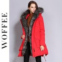 Woffee New Fashion Winter Women S Down Jacket Plus Size 90 White Duck Down Femme Coat