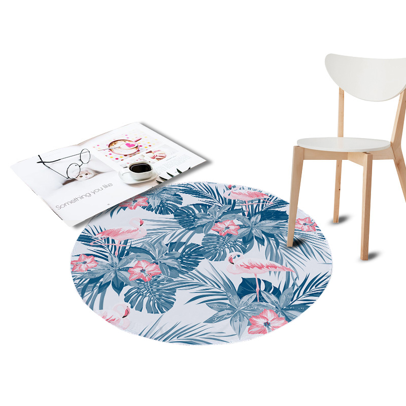 Sensational Us 8 69 45 Off Flamingo Printed Coral Velvet Chair Floor Mat Large Round Carpet For Living Room Area Kids Bedroom Tropical Plants Outdoor Rugs In Gmtry Best Dining Table And Chair Ideas Images Gmtryco