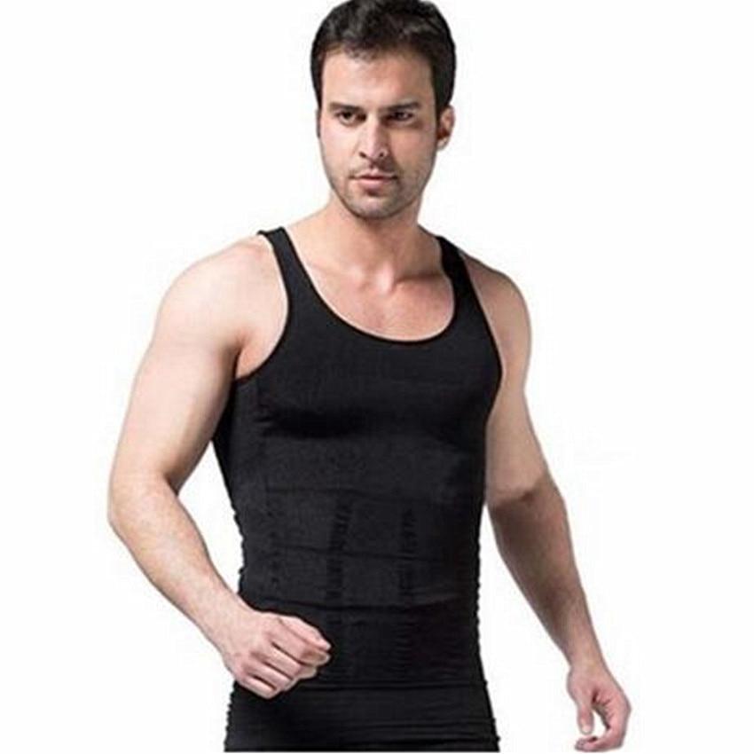 81513671f60 Men s Body Shaper Slimming Shirt Tummy Waist Vest Lose Weight Men s  Slimming Body Shaper Vest Shirt Corset Underwear fat belly