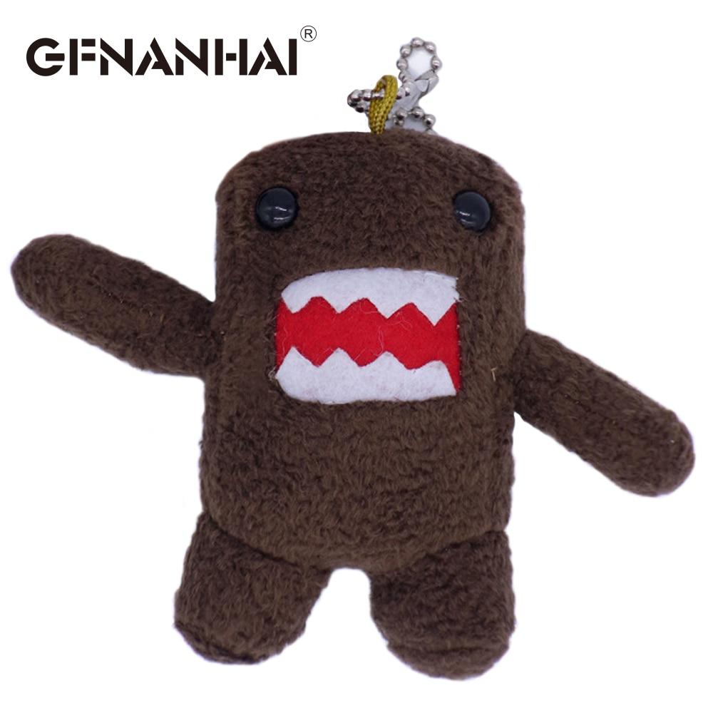1pc 10cm Cute DOMO KUN Plush Toys Phone Charm Pendant Lanyard Doll Bag Key Chain Domokun Funny Kawaii Toy For Kids Birthday Gift