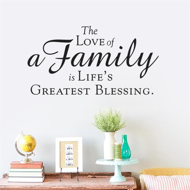 Family Love Is Life Greast Blessing Home Decor Wall Stickers Walls Vinyl  Removable Murals Living Room