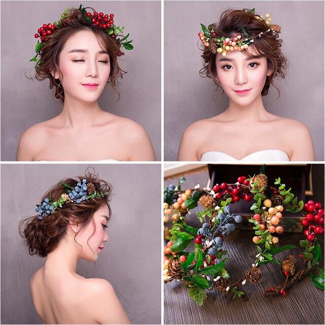 Hochzeit Stirnband Farbige Obst Haarband Boho Blumen Crown