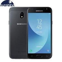 """Débloqué Original Samsung Galaxy J3 J3300 4G LTE Mobile téléphone Quad-core 3G RAM 32G ROM 5.0 """"13.0MP Empreintes Digitales Smartphone"""
