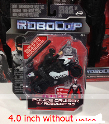 2014 Newest 4 0 Inch Black Robocop Model Kits Kids Toys Motorcycle
