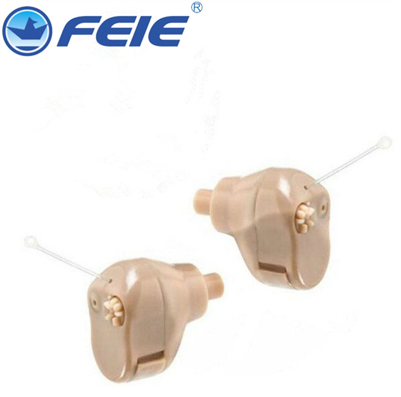 Mini ITC Analog Hearing Aid Invisible Best Sound Amplifiers Portable Deaf-aid  S-900A With Battery A10 analog bte hearing aid deaf sound amplifier s 288 deaf aid with digital processing chip free shipping