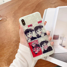 KAIEN ins Seashell funny Playing Lipstick girl fashion cover for Apple