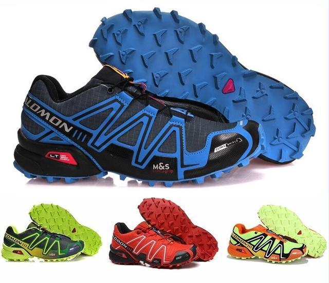 magasin d'usine 4b70d b89b8 US $36.65 5% OFF Salomon Speed cross 3 CS Men Running Athletic Zapatillas  Sport Outdoor Shoes Hombre Solomon Speedcross Male Running Running Muje-in  ...