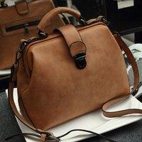 The New Spring And Summer 2016 Lingge Leisure Bag Handbag Fashion Doctor Bag Lock Diagonal Single