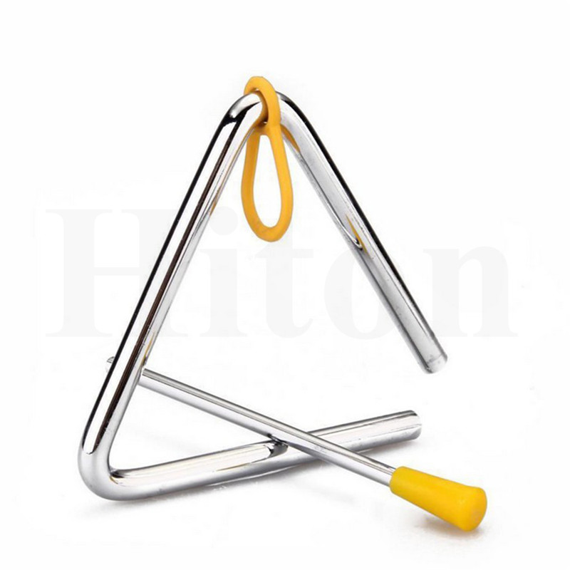 """15cm 6/"""" A-Star Metal Triangle Musical Percussion Instrument and Beater"""