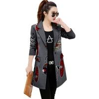 Women slim casual balzers african print fashion coats long style design dashiki coats of africa clothing