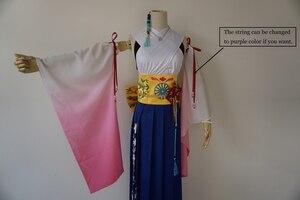 Image 2 - Final Fantasy X Yuna Cosplay Costume + Collana + Braccialetto + Anello + orecchino Costumi di Halloween per Le Donne Costumi Per Adulti personalizzato di Qualsiasi Dimensione