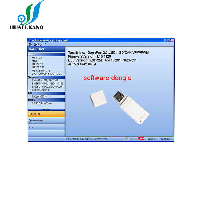 US $36 71 10% OFF MultiFlasher ECU Chip Tuning Software work for H yundai  Kia car model Supports J2534 OpenPort 2 0 interface-in Software from