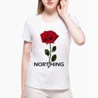 2017 Nothing Letter Printed T Shirt Kawaii Rose T Shirt Summer Hipster Short Sleeve Tops Female