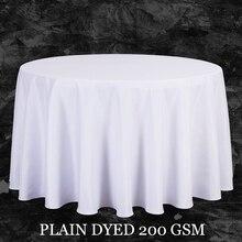 Große Größe Polyester White Runden Tisch Tuch Hochzeit Tischdecke Tischabdeckung Quadratischen Esstisch Leinen Rechteckigen Großhandel