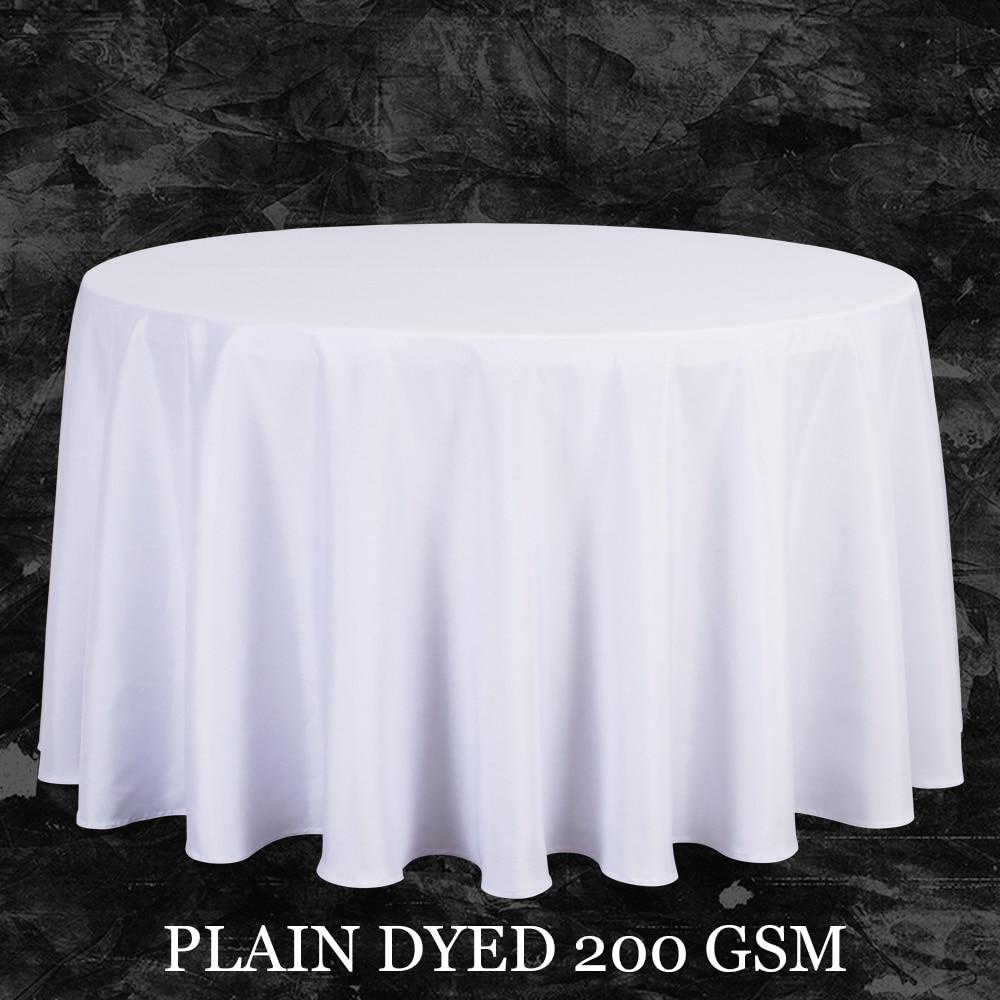 tamao grande de polister cubierta de tabla del partido pao blanco de mesa redonda mantel boda