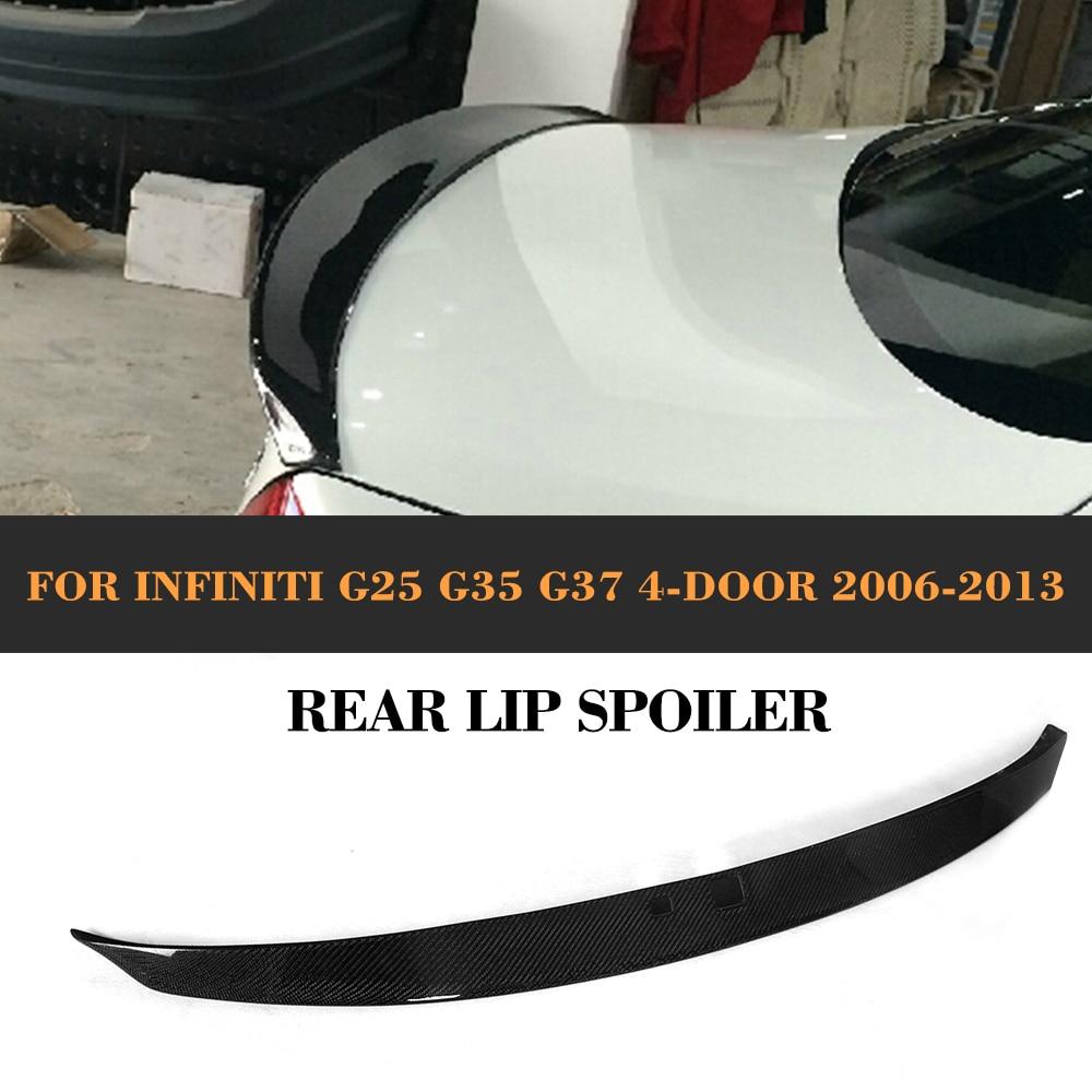 Carbon Fiber Car Rear Spoiler Rear wing spoiler fit for Infiniti G25 G35 G37 4 door 2006 - 2013 spl rkb z34 fks rear knuckle monoball bushing set nissan 370z z34 09 infiniti g37 08 g35 07 08 sedan v36