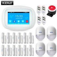 Smart Home WIFI GSM Alarm System Security Alarm 4.3 inch TFT Color Screen SMS PIR Motion Sensor Door Sensor Smoke Alarm