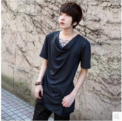 76f1f84f66 Summer influx of men Slim Men heap collar wild alternative fashion men s  casual T-shirt tide