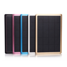 1x Solar Panel Charger dual-USB Power Bank Real 10000mAh Waterproof Outdoors External Portable Aluminum Smart Charging Protected