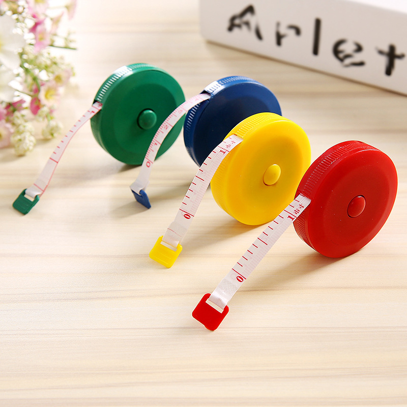 Cute Kawaii Mini Roll Automatic Stretch Ruler 1.5 Meter Long Stationery Measure Ruler DIY Tool Kids Gift Home Decor
