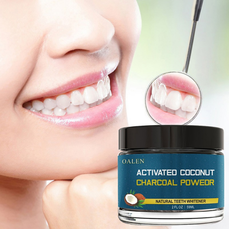 Free Shipping Natural Coconut Shells Toothpaste Powder Activated Carbon Teeth Whitening Powder Wash Your Teeth(China)