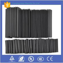 127pcs Black 7 Sizes Insulation Assortment Polyolefin H 2:1 Electronic Heat Shrink Tubing Tube Sleeve Wrap Wire Cable Kit Top