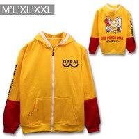 Een punch man Saitama sensei geel en rood mix hoodie een punch man cosplay hoodie saitama sensei cosplay AC63
