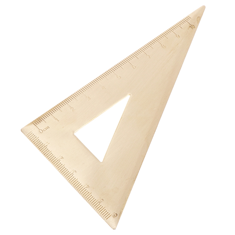 Super Durable Brass Speed Triangle Ruler Set Square Tool Carpenter Clear Ruler #0616