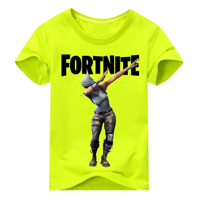 Fortnite T-shirt Boy Girls Summer Short Tee Tops Costume For Kids Clothing Baby
